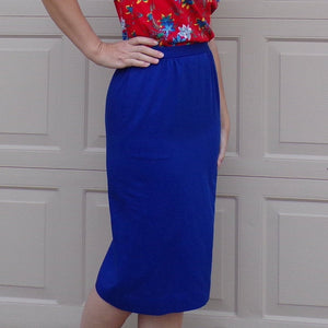 BRIGHT BLUE PENDLETON straight skirt xs (D6)
