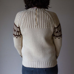 CHUNKY WOOL 1960's SWEATER tami S M (K3)