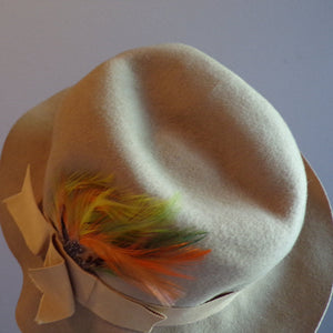 BETMAR FEDORA HAT with ribbon and feathers