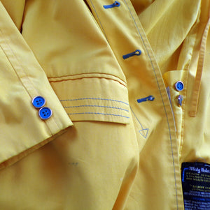 1970's 70's YELLOW SPRING COAT jacket misty harbor S M (D9)