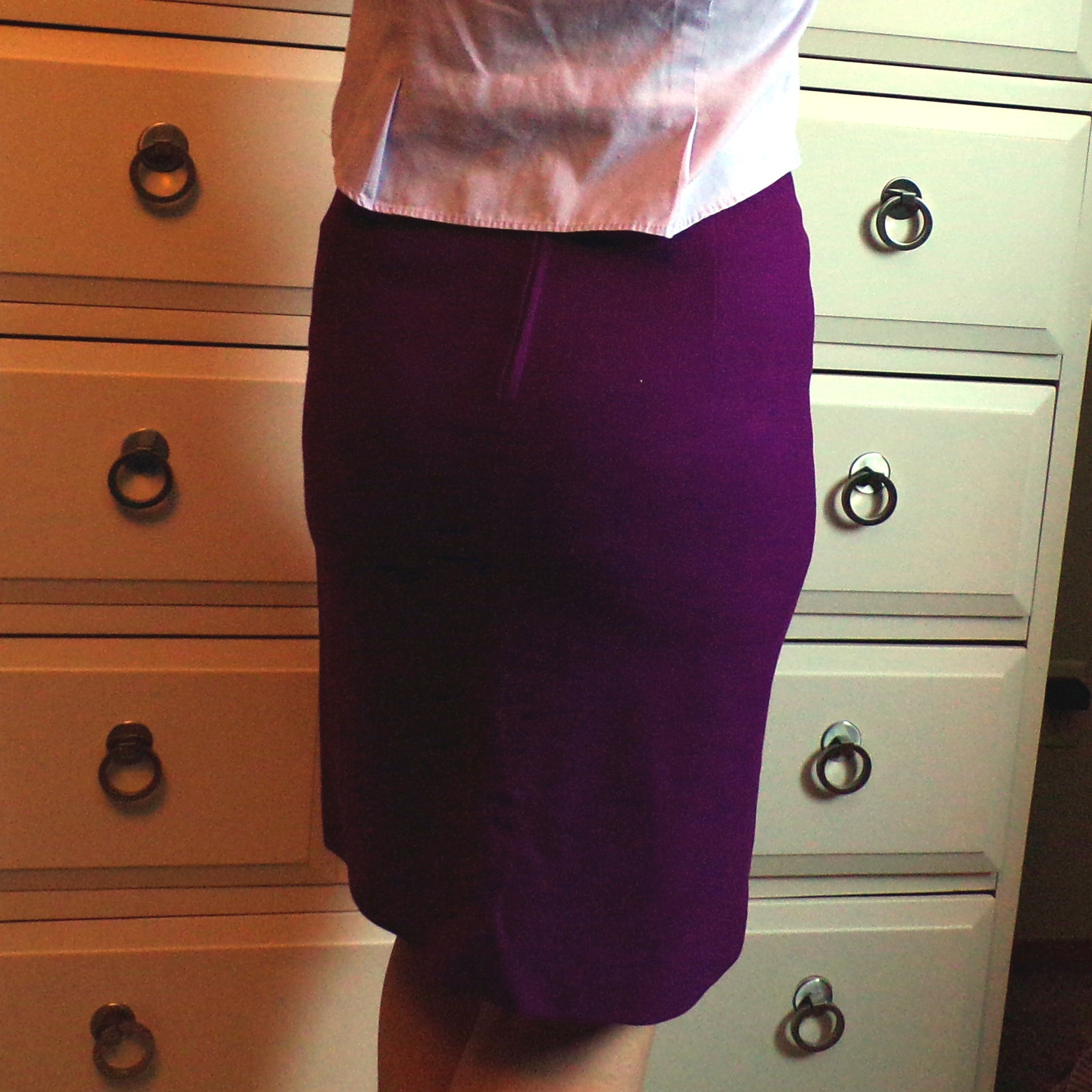 KORET VIOLET PURPLE high waisted wool skirt 1960's 1970's xs (E3)