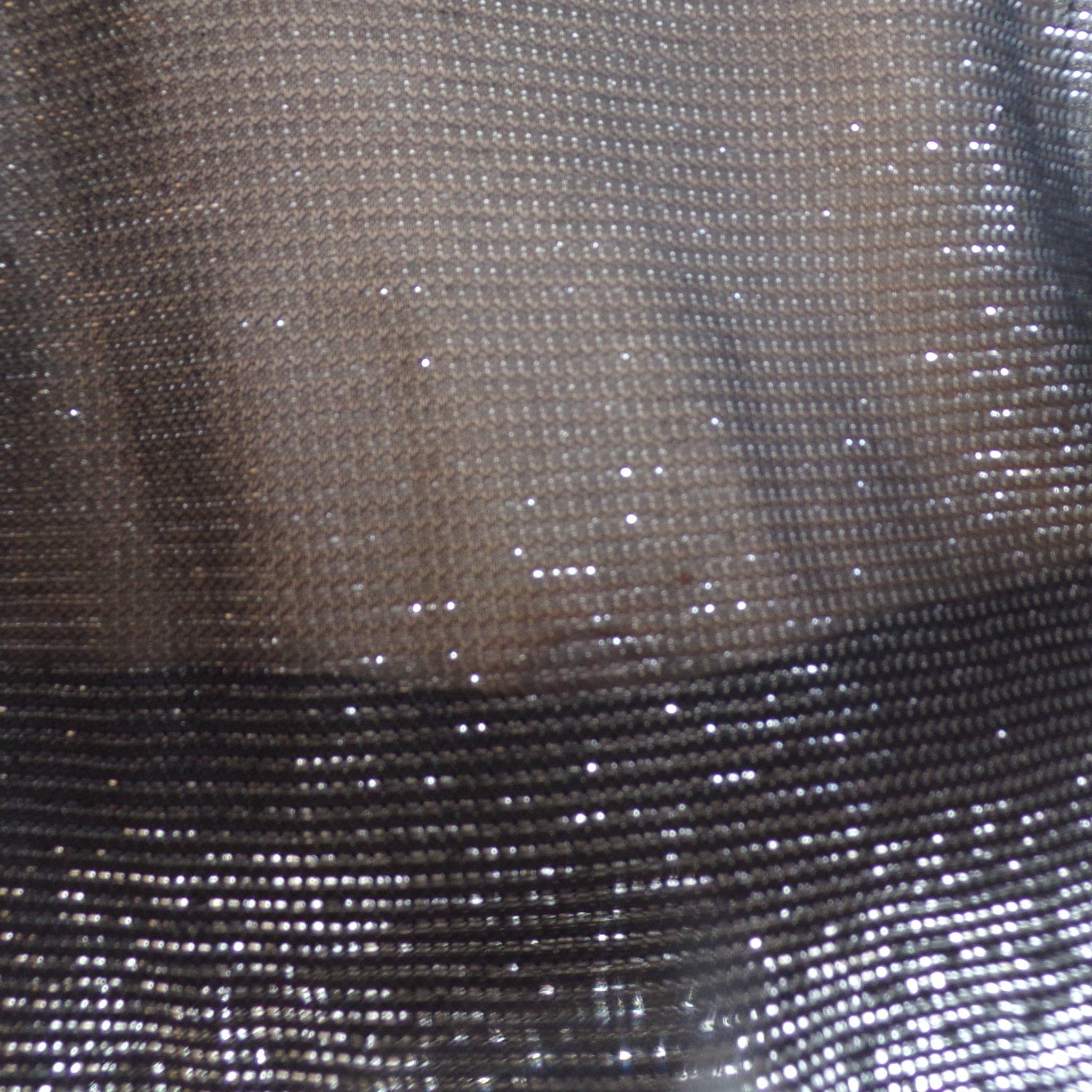 SILVER and BLACK sheer BLOUSE 1970's 1980's S (E9)