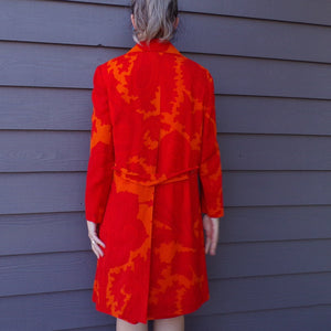 MOD paisley DRESS SET coat jacket outfit M L (F1)