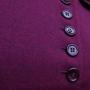 1940's 1950's FITTED SUIT JACKET lots of buttons! xs handmacher (B2)