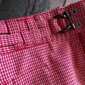 reserved *** 1970's RED GINGHAM SHORTS h.i.s. 70's high waist xs