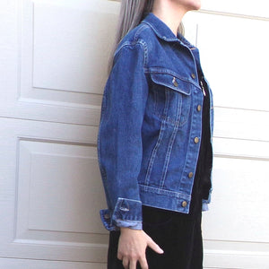 VINTAGE lee JEAN JACKET denim xs S M (F8)