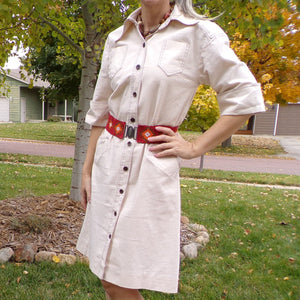 NR1 by NED GOULD 1970's 70's jacket dress safari S