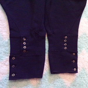 1930s 1940s BLACK RIDING BREECHES jodhpur pants S
