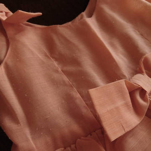 1960s TODDLER DRESS 60s APRICOT ruffles 2 (K5)