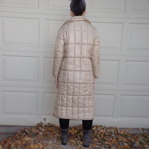 1980s POLYFILL PUFFER COAT 80's champagne S