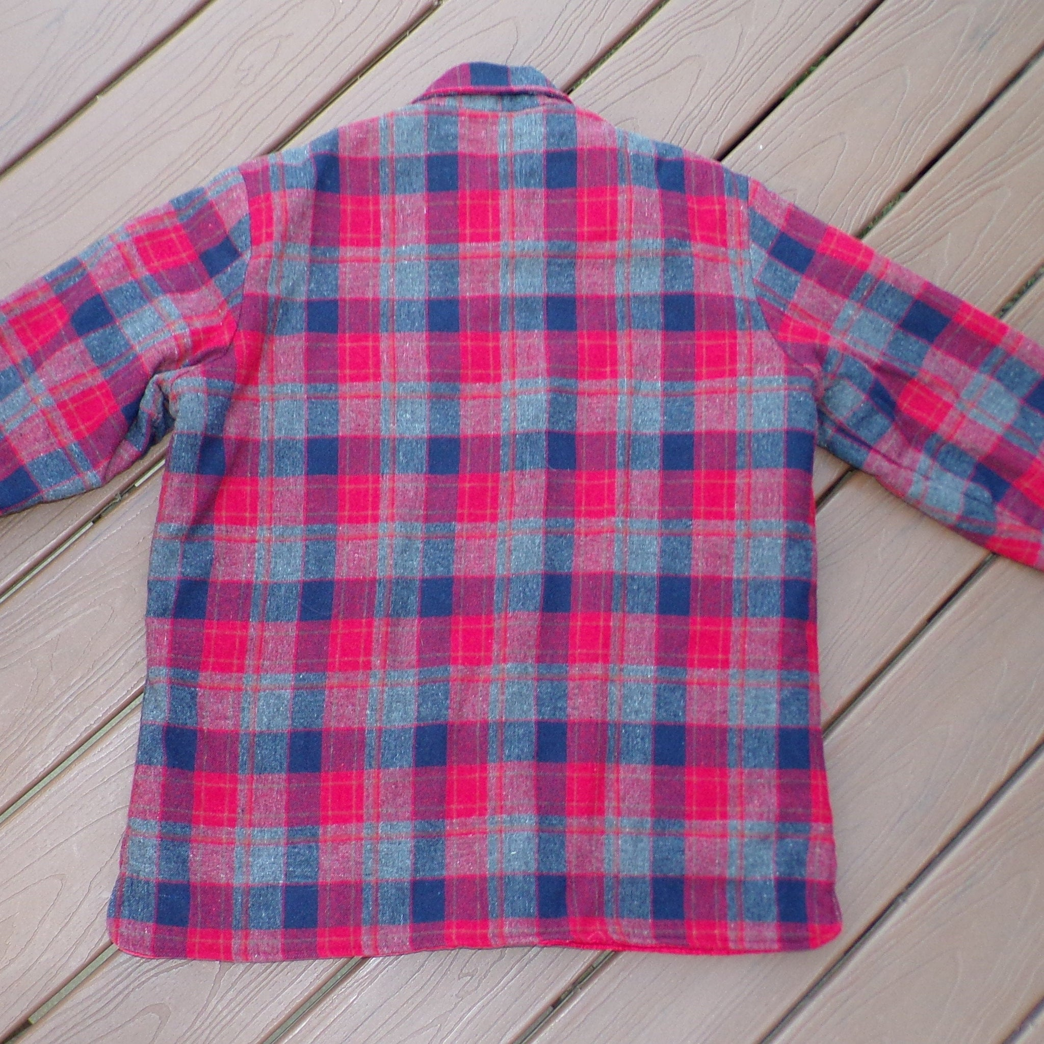 INSULATED WOOL SHIRT button front woodland (K3)