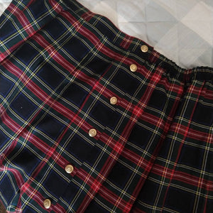 "PLAID PLEATED SKIRT volup 3X 42"" waist (K10)"