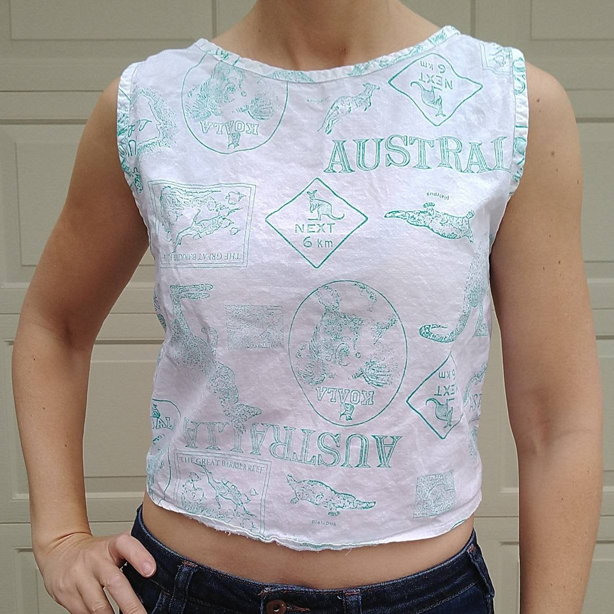1980s AUSTRALIA CROPPED TANK top 80s S (G5)