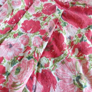 FLORAL COTTON 50s baby DRESS 1950s circle skirt 9 12m (K5)