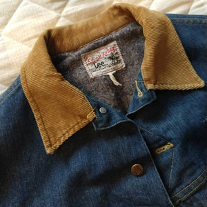 LEE STORM RIDER insulated denim jacket jean L