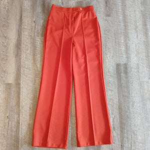 HIGH WAIST rust PANTS trousers 1970s 70s xs S (B7)