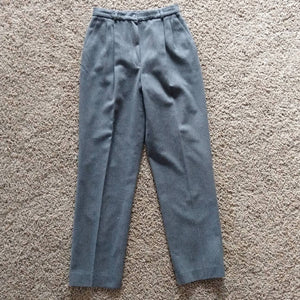 PENDLETON GRAY wool PANTS high waist trousers M (A9)