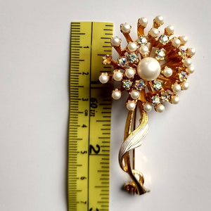 large signed BSK DANDELION PUFF pin brooch (C2)