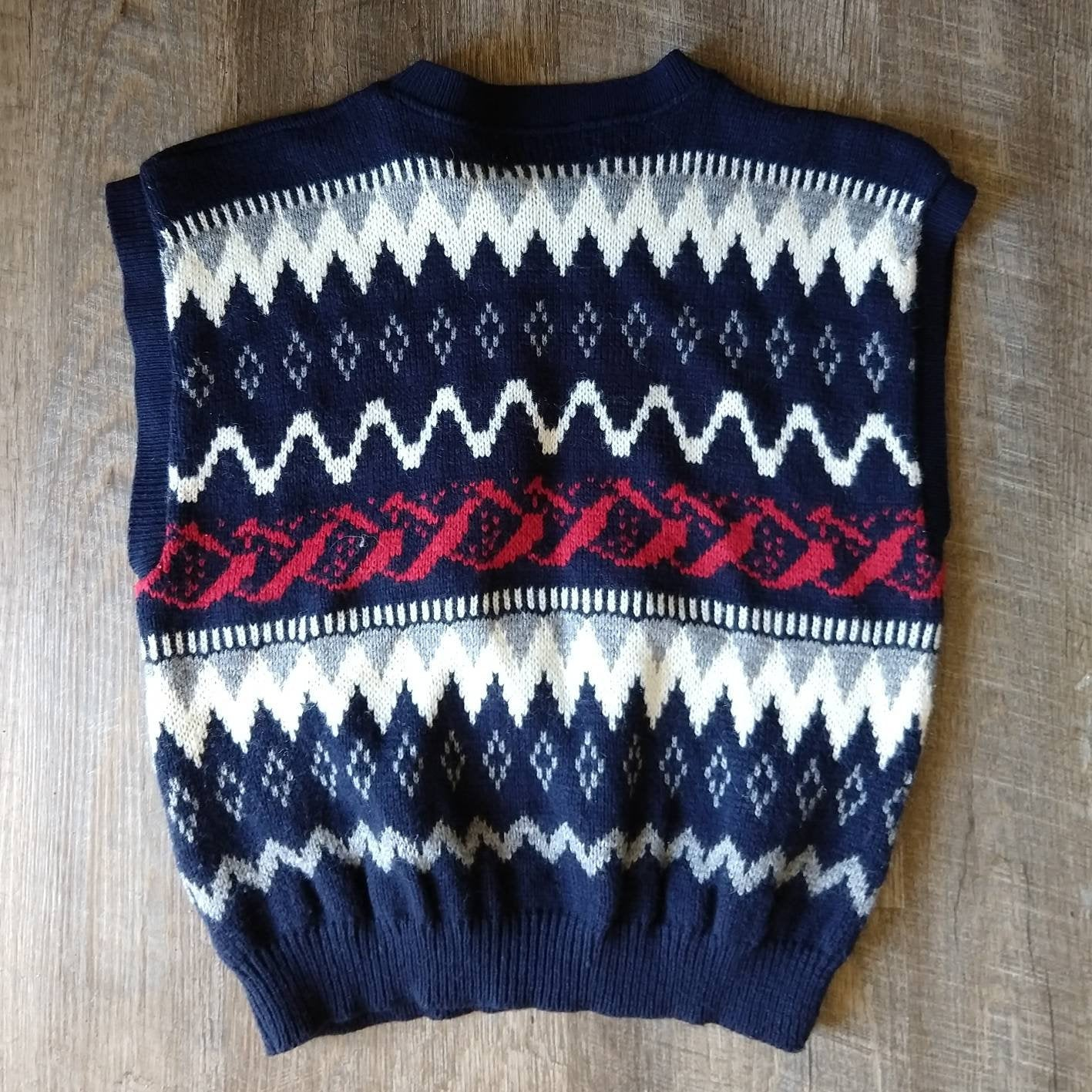SWEATER VEST SHELL sleeveless 1980s 80s S M (H2)