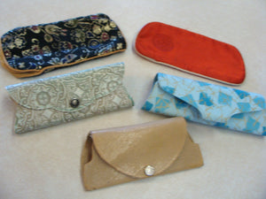 lot of 5 VINTAGE EYEGLASS CASES small glasses case (C3)