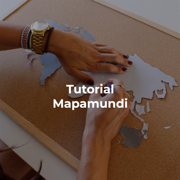 Tutorial DIY Mapa Mundi