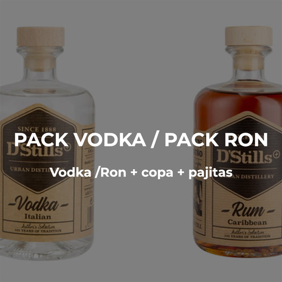 Pack Vodka o Ron a domicilio Dstills Market