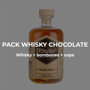 Pack Whisky de chocolate a domicilio Dstills Market
