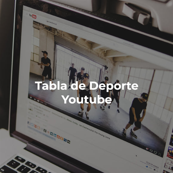 Tabla mensual de deporte en Youtube