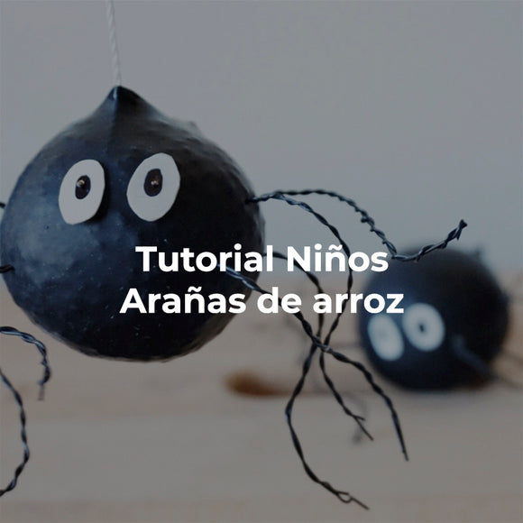Tutorial DIY Arañas de Arroz