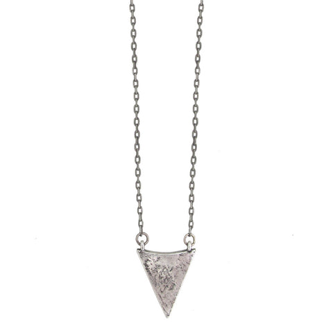 Arrowhead Necklace - Antiqued Silver