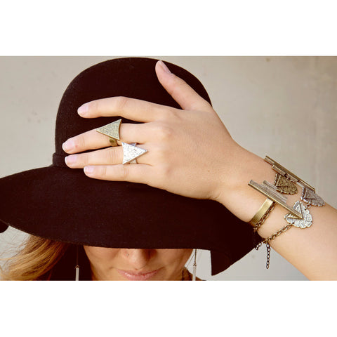 Arrowhead Ring - Antiqued Brass