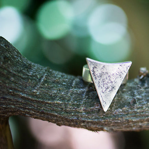Arrowhead Ring - Antiqued Silver