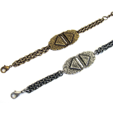 Double Mini Shield Bracelet