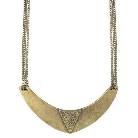 Egyptian Collar Necklace - Antiqued Brass