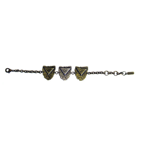 Triple Mini Shield Bracelet
