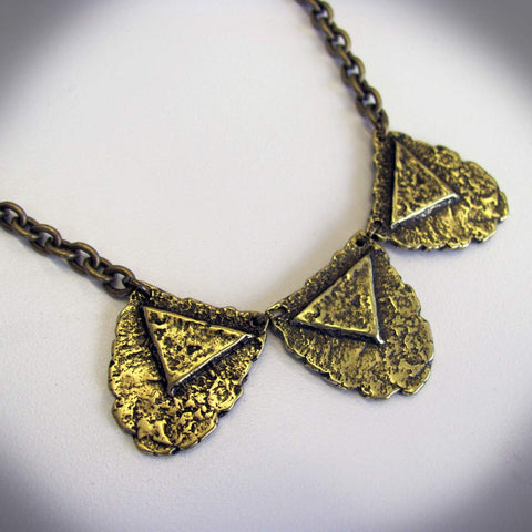Triple Mini Shield Necklace