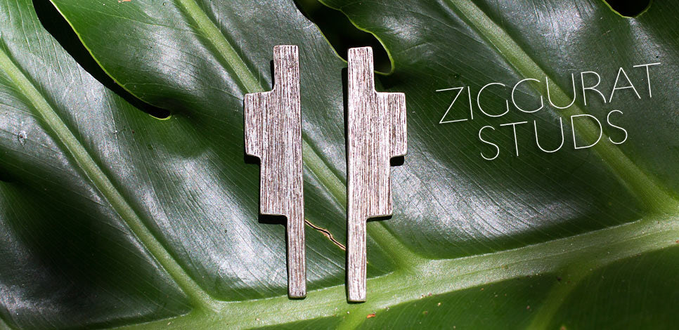 The Primitive Modernism Ziggurat Stud Earrings