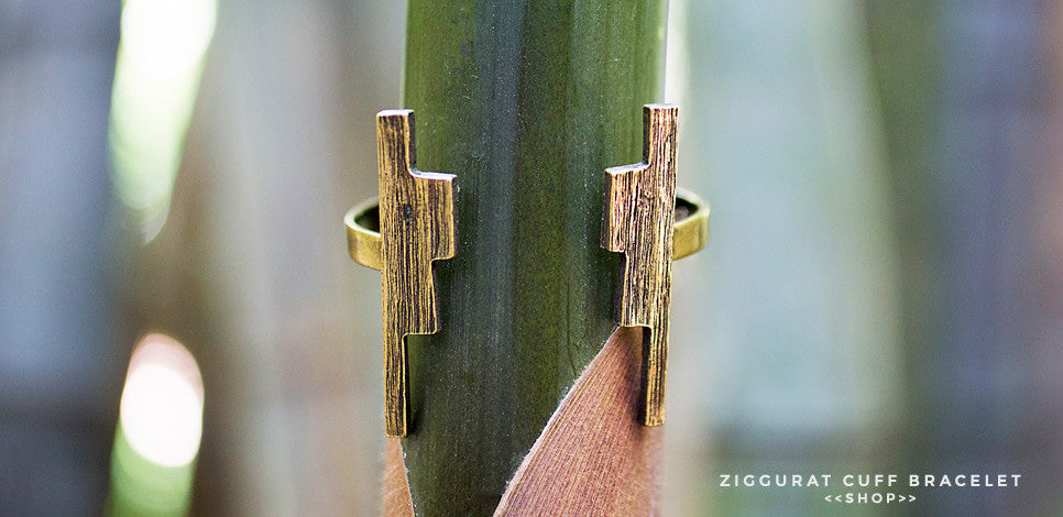 The Primitive Modernism Ziggurat Cuff Bracelet