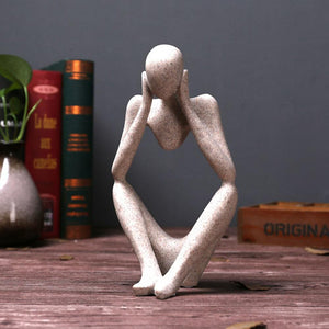 Abstract Thinker People Sculpture