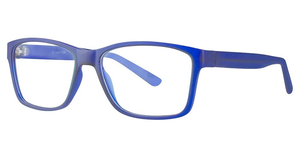 Blue Light Block Eyeglasses - SOHO 1026 Matt Blue