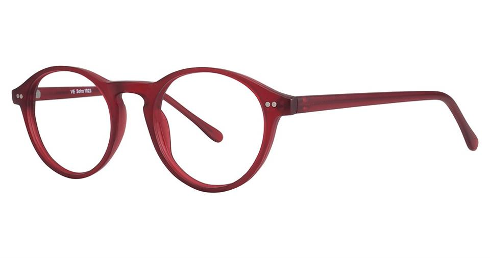 Blue Light Block Eyeglasses - SOHO 1023 Matt Red