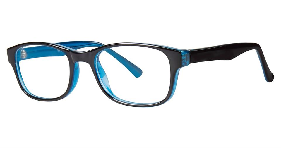 Blue Light Block Eyeglasses - SOHO 0128 Black Blue
