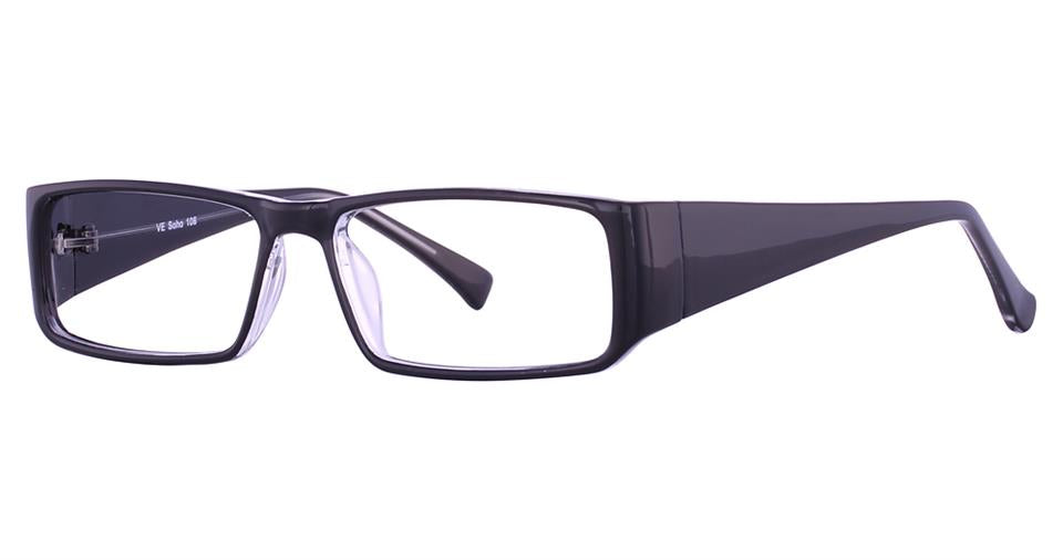 Blue Light Block Eyeglasses - SOHO 0106 Black Crystal