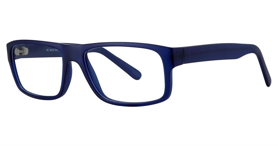 Blue Light Block Eyeglasses - SOHO 1040 Matt Navy