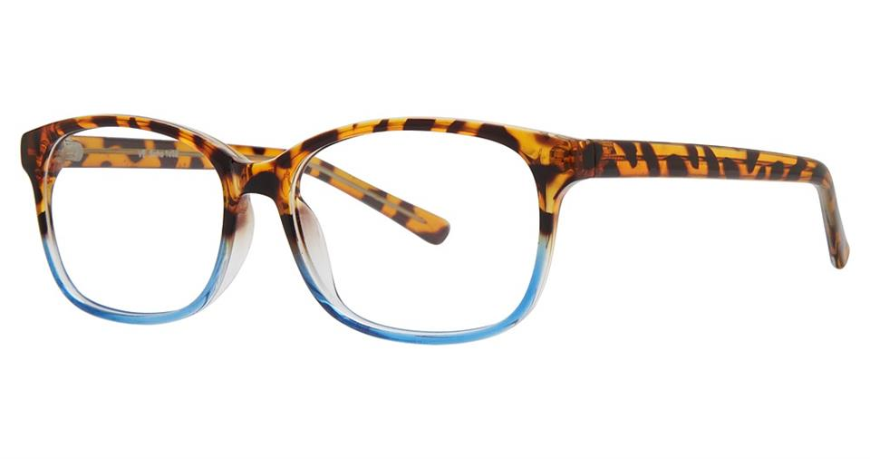 Blue Light Block Eyeglasses - SOHO 1052 Tortoise Blue Fade