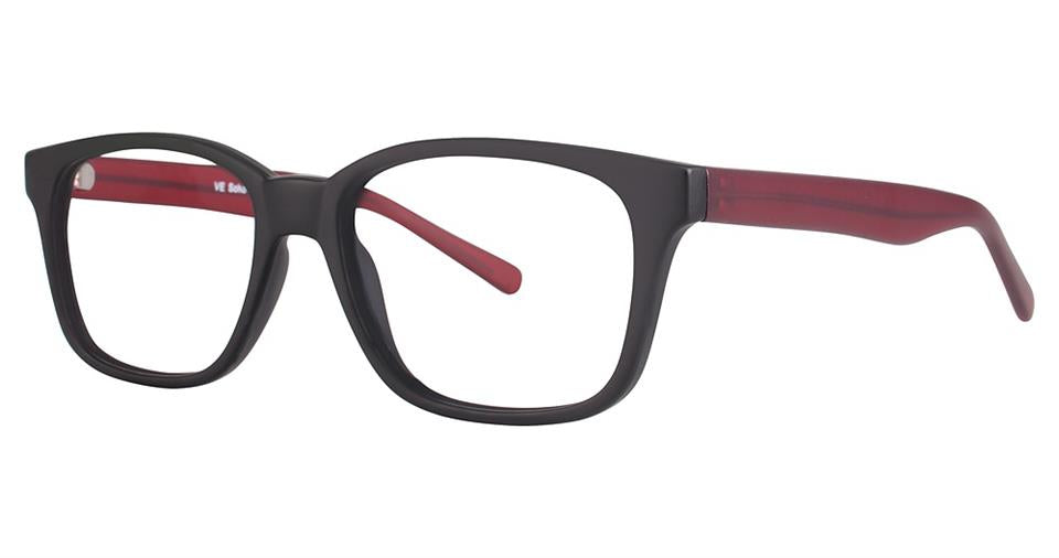 SOHO 1021 Matt Black with Matt Red Temples