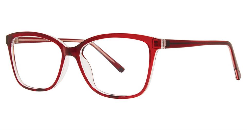Blue Light Block Eyeglasses - SOHO 1046 Burgundy Crystal