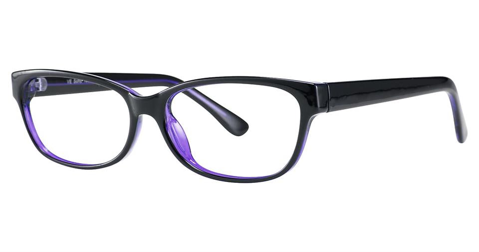 Blue Light Block Eyeglasses - SOHO 1009 Black Purple