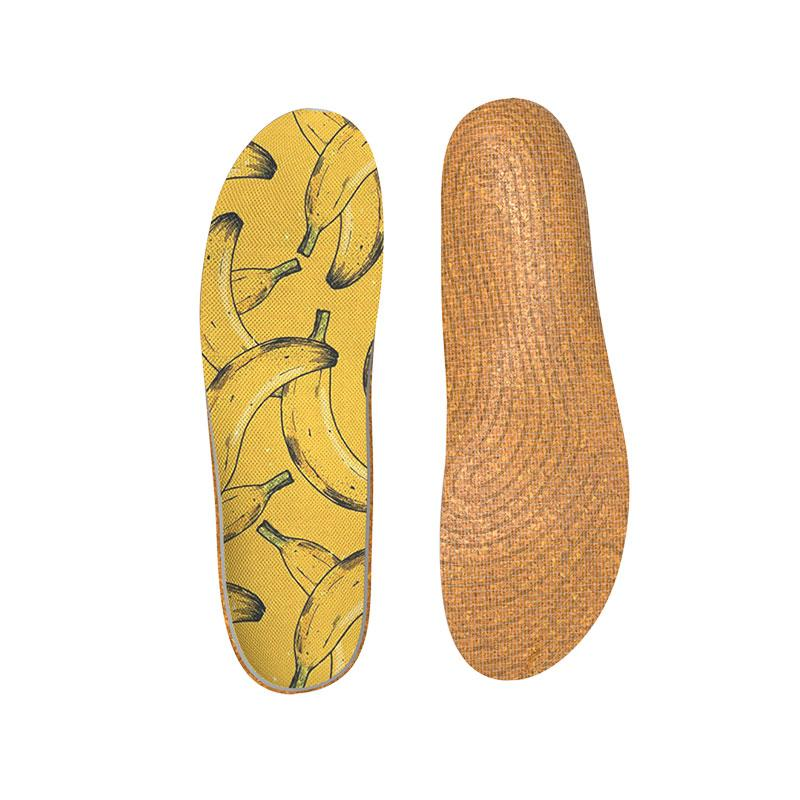 Sentimetic Cork Orthotics Insoles Banana Elements Insert for Woman & Man -Relieve Fatigue