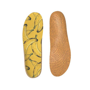 Sentimetic Cork Orthotics Insoles Banana Elements Insert for Woman and Man -Relieve Fatigue - Senthmetic